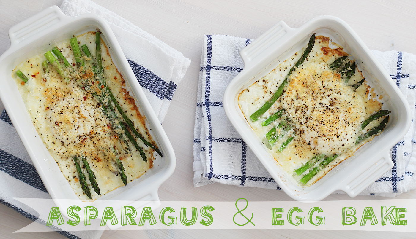 Rise of the Monday: Asparagus and egg bake - Splash of Something